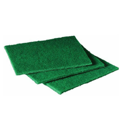 """ABCO Products Green 6"""" x 9"""" Heavy Duty Scouring Cleaning Pads, Pack of 12"""