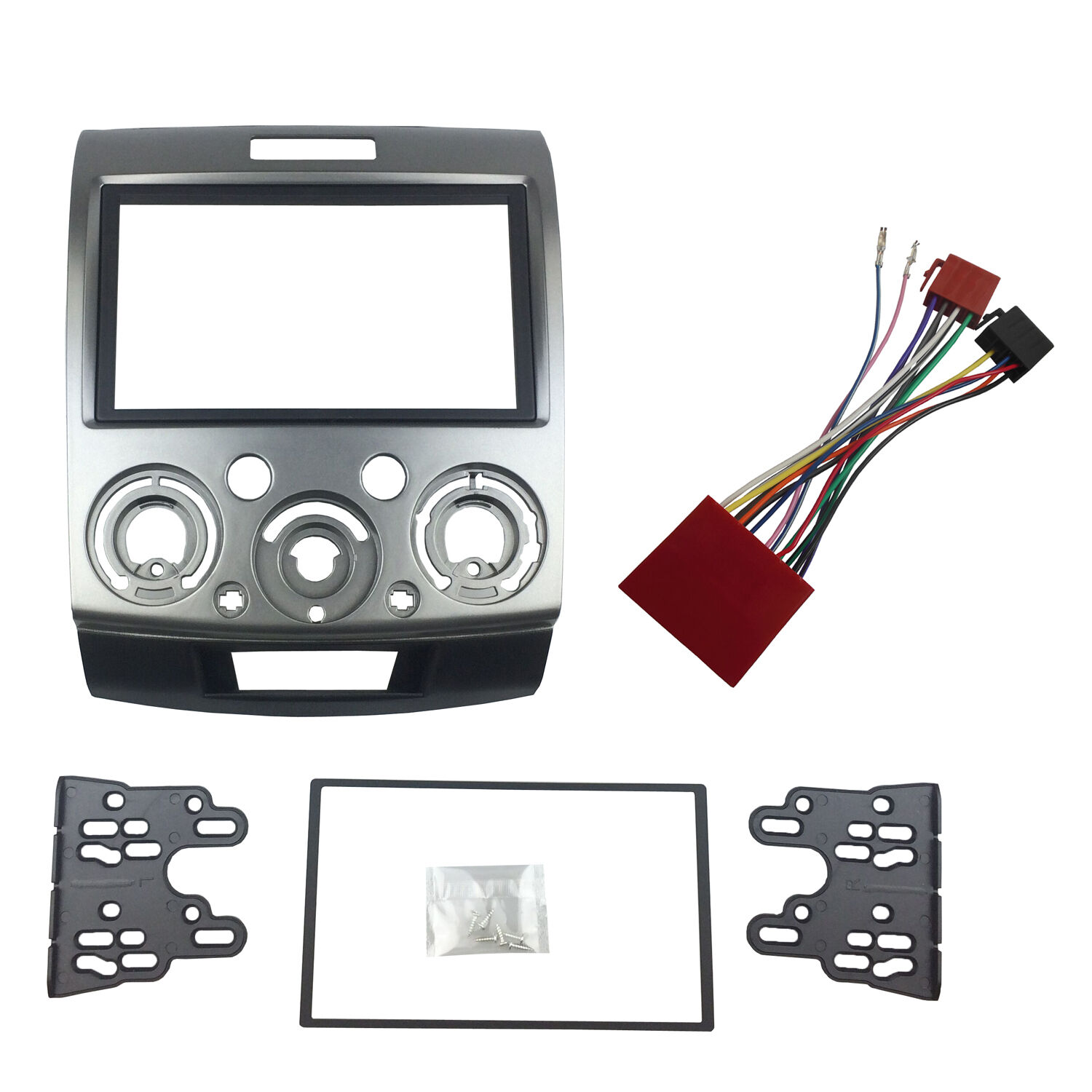 2 Din Stereo Panel for Ford Everest Ranger MAZDA BT-50 With ISO Wiring  Harness | eBayeBay