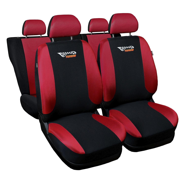 Volkswagen Polo Universal Rot Sitzbezüge Sitzbezug Autositz Schonbezüge Tuning