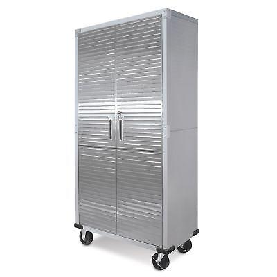 Stainless Dagger Storage Cabinet Heavy Duty Metal Rolling Garage Tool Organizer