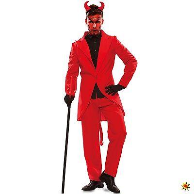 Herren Kostüm Teufel Lucifer Gr. M/L ,XL rot Anzug Satan Halloween Fasching Karn