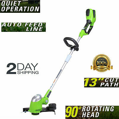 Best Cordless String trimmer weed whacker immaculate lawns quitely