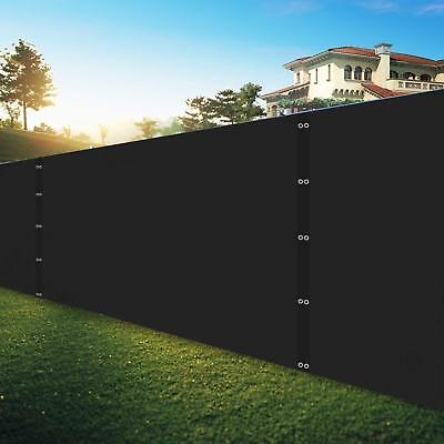 Security & Privacy Windscreen ,Black 8x10FT with Grommets & Zip Ties
