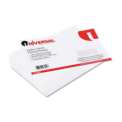 Universal Ruled Index Cards 5 X 8 White 100pack 47250
