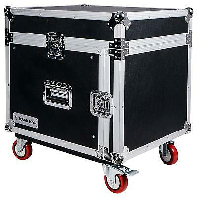 Slant Box Top (OPEN-BOX: Sound Town 8-Space Rack/Road Case  Slant Mixer Top, Caster)