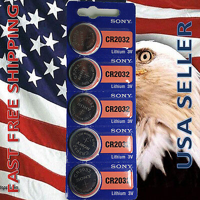 **FRESHLY NEW** 5x SONY CR2032 Lithium Battery 3V Exp 2024 Pack 5 pcs Coin Cell