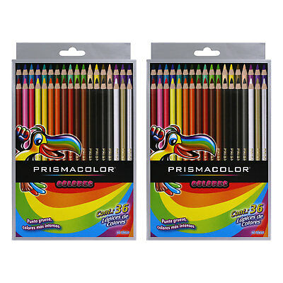 Prismacolor Colors Scholar Colored Pencil Set, Assorted Colors, 36-Count, 2 Sets