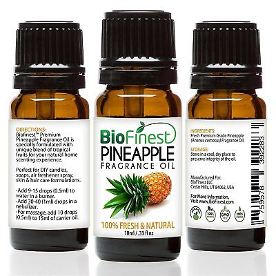 BioFinest Pineapple Fragrance Oil - 100% Pure & Natural - Fresh Home Scent - Air