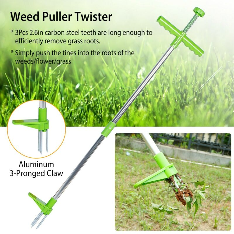 Weed Puller Weeder Twister Garden Lawn Root Killer Remover Tool with 39in Handle