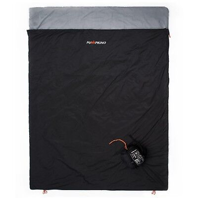 Black XL Ultralight Double Sleeping Bag for Backpacking in Hot Weather 3 Season ()