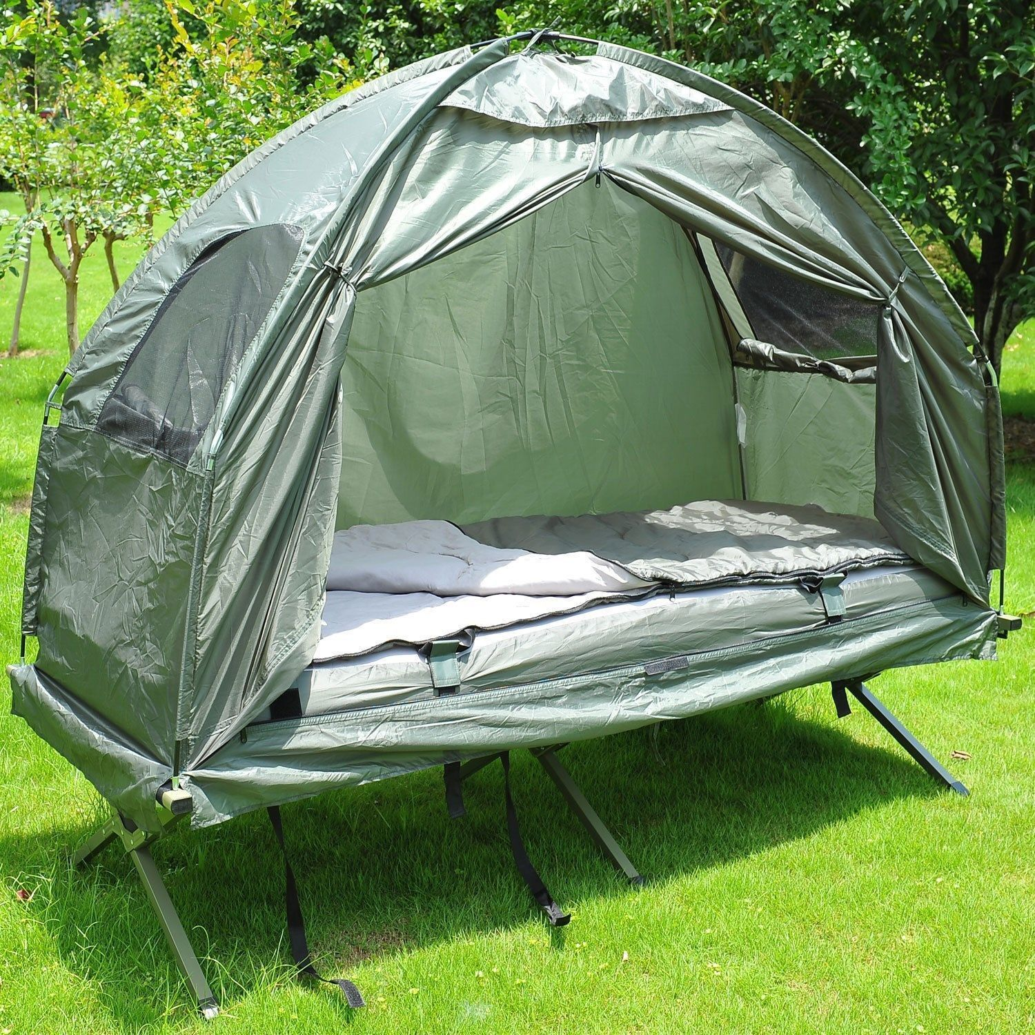 big sale 4c761 15d57 New Outsunny Single Portable Camping Tent Bed Cot .. in ...