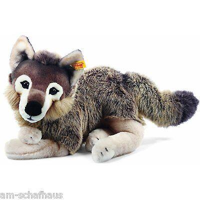 Steiff Wolf Snorry 40cm grau/braun Kuscheltier Webpelz 30°C Geschenk Neu 069284