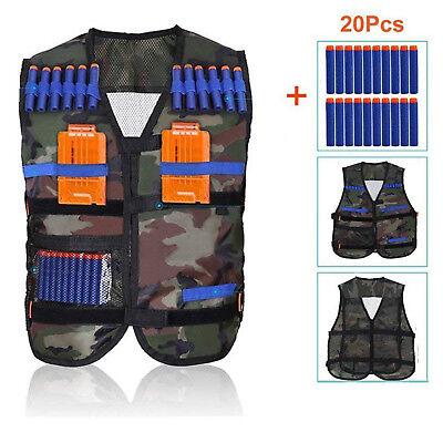 Nerf Vest Kids Tactical Jacket Foam Darts Bullet Kit Set For Nerf N-Strike Gun