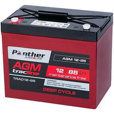 Panther AGM Bleiakku 12V 85Ah Versorgungsbatterie Solar Akku Batterie 80Ah 77Ah