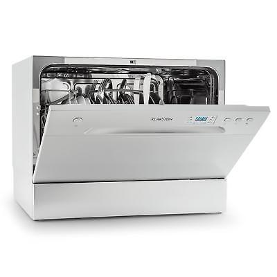 Spülmaschine Tisch Geschirrspüler Geschirrspülmaschine 45cm Silber 49dB A+