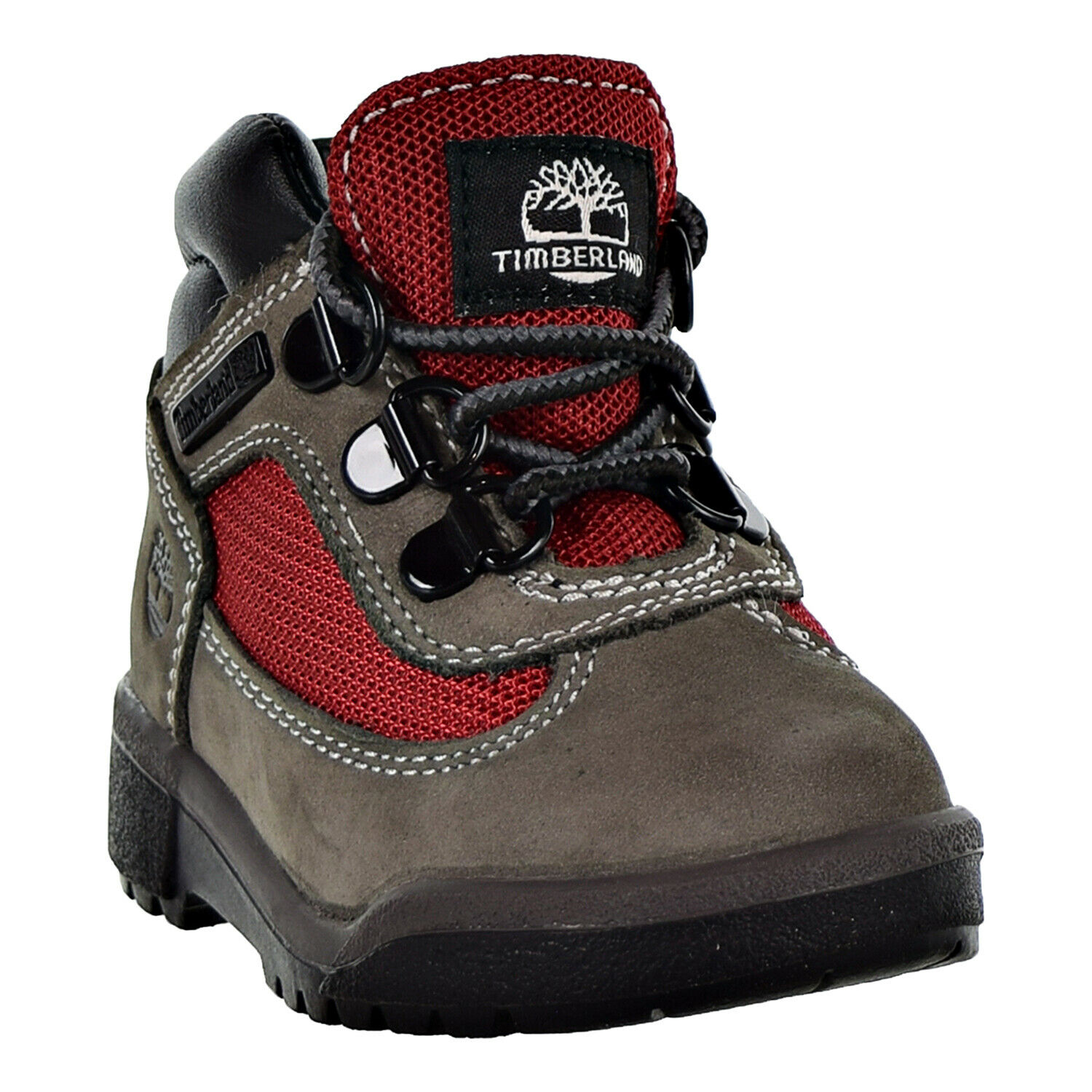 Timberland Field Boot L-F Mid Toddler's Shoes Grey-Red TB0A1ROS 1