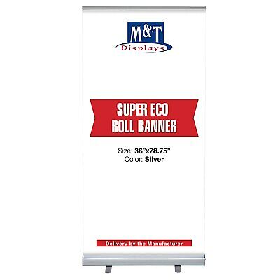 Retractable Banner Stand Super Roll Up Display Aluminum 36 X 78.75