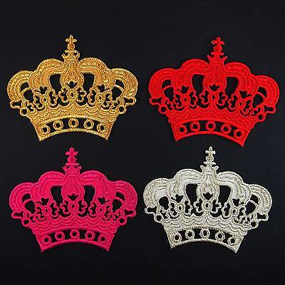 Crown Princess King Queen Kids Baby Clothes Embroidered Iron on - Baby King Crown