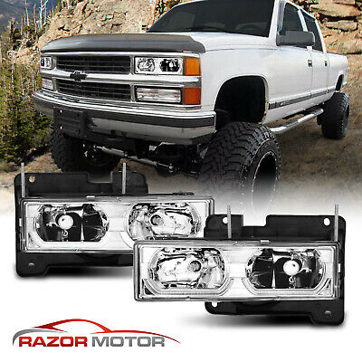 1988-1998 Chevy C/K 1500/2500/3500/GMC Factory Style Chrome Headlights
