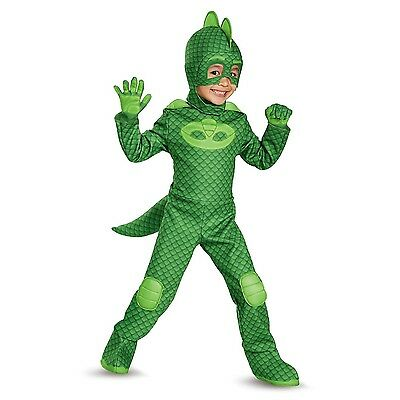 PJ Masks Gekko Deluxe Toddler Child Glow In The Dark Costume | Disguise 17166](Deluxe Baby Costumes)