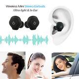 Mini TWS Twins Wireless Bluetooth Stereo Headset In-Ear Earphones Earbuds IPX4