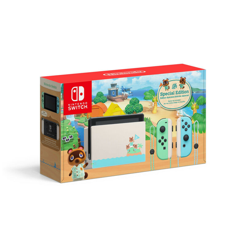 Nintendo Switch Console - Animal Crossing: New Horizons Special Edition [Brand N