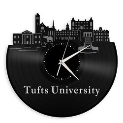 Tufts University Vinyl Wall Clock Unique Gift for Decoration Bedroom Home Decor