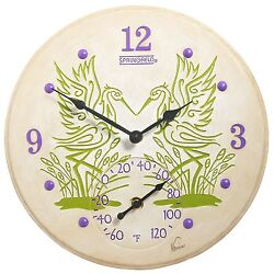Taylor Springfield Clock with Thermometer Beautiful Cranes Design Home Decor