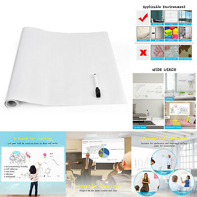 Dry Erase Whiteboard Stick Decal Wall Self Adhesive White Board Peel Roll Sheets