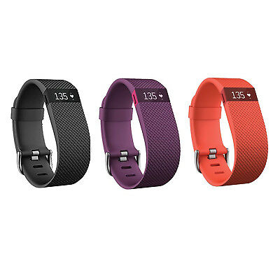 New Fitbit Charge Hr Activity Fitness Tracker Heart Rate Wristband Watch S   L