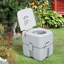 Outdoor Portable Toilet Flushable Tank Level Indicator Easy to Use Camping