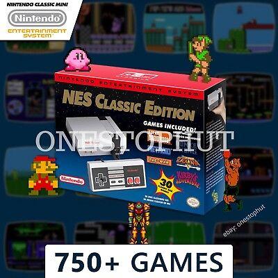 Authentic Nintendo NES Classic Edition Mini Entertainment System 750+ Games