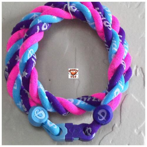 NEW Phiten Triple Twist - Purple/Carolina Blue/Hot Pink