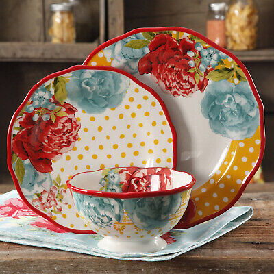 12-Piece Dinnerware Set Plate Bowl Salad Blossom Jubilee food The Pioneer -