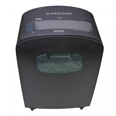 Royal 12 Sheet Cross Cut Paper Shredder Heavy Duty With Casters -1250x