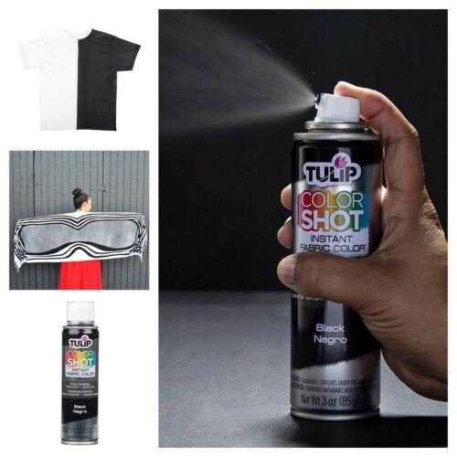 Black Permanent Clothes T Shirt Spray Paint 3 Oz Fabric Aerosol Paint Color Shot