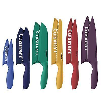 6 Color Knife Set Blade Guard Kitchen Cutlery Chef Slicing Santoku Utility Cook