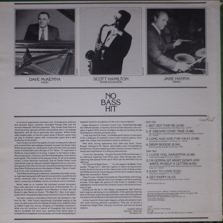 DAVE McKENNA / NO BASS HIT NM/NM 0345 LP Vinyl - $15.00
