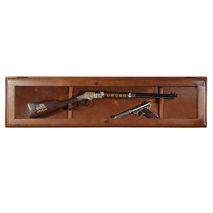 Wall Mount Gun Display Cabinet Rack Shelf Rifle Storage