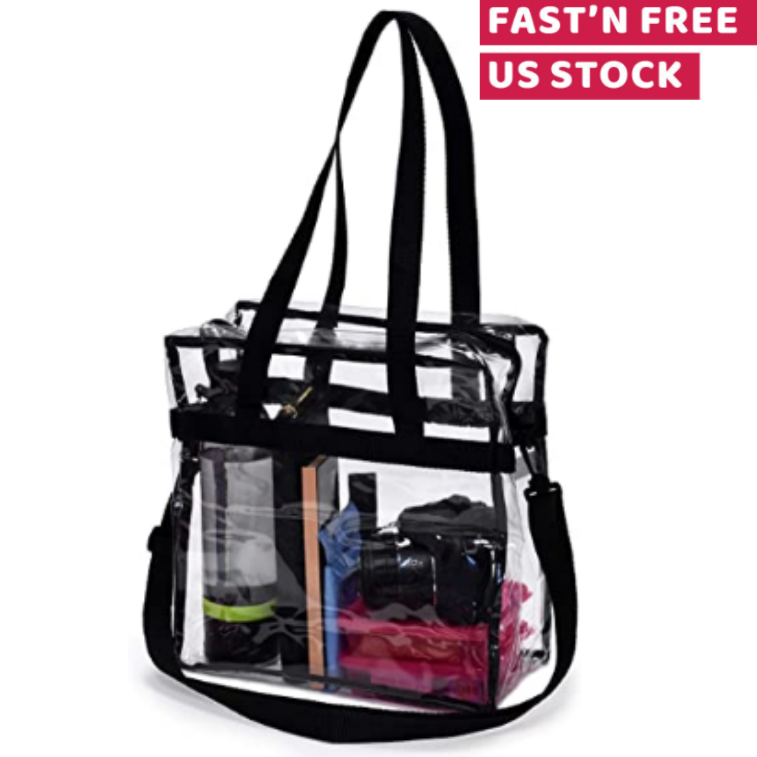 Clear Tote Bag Transparent Shoulder Purse Backpack Handbag