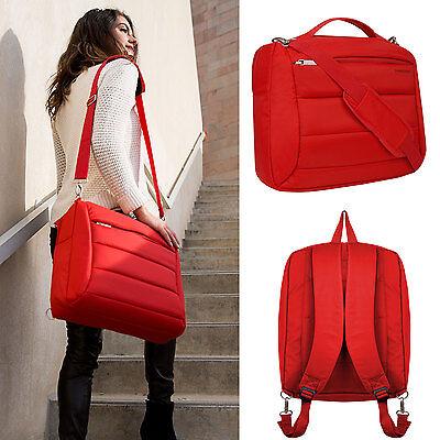 """Red Women's Backpack Laptop Shoulder Bag For 15.6"""" Lenovo..."""