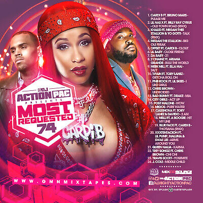 DJ ACTION PAC - MOST REQUESTED 74 (MIX CD) CARDI B, KHALID, MEGAN THEE STALLION