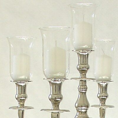 Glasaufsatz 13,5cm Klar Kerzenleuchter Kerzenständer Teelichtaufsatz Partylicht