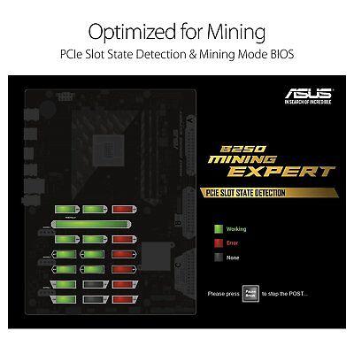 Asus B250 MINING Practised LGA1151 DDR4 HDMI B250 ATX Motherboard