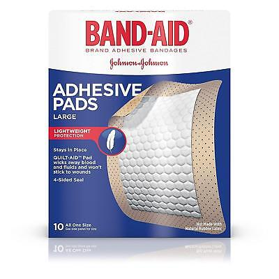 Band-Aid Adhesive Pads All Purpose Protection, Large 2 7/8 in x 4 in - 10 - All Purpose Band
