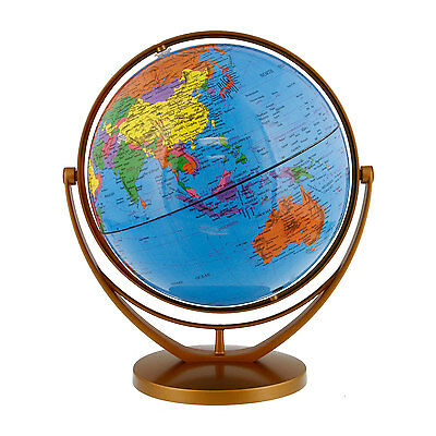 """8"""" Inch (20cm) Blue Ocean Rotating Swivel and Tilt Desktop World Earth Globe"""