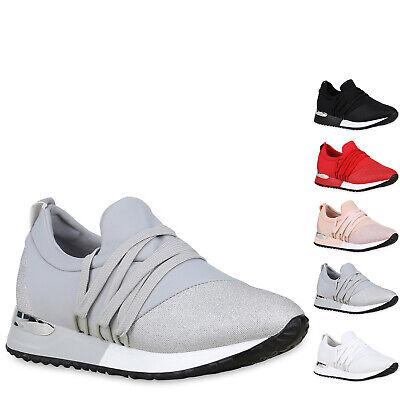 Damen Sneaker Wedges Schnürer Keilabsatz Turnschuhe Zipper 830789 Schuhe