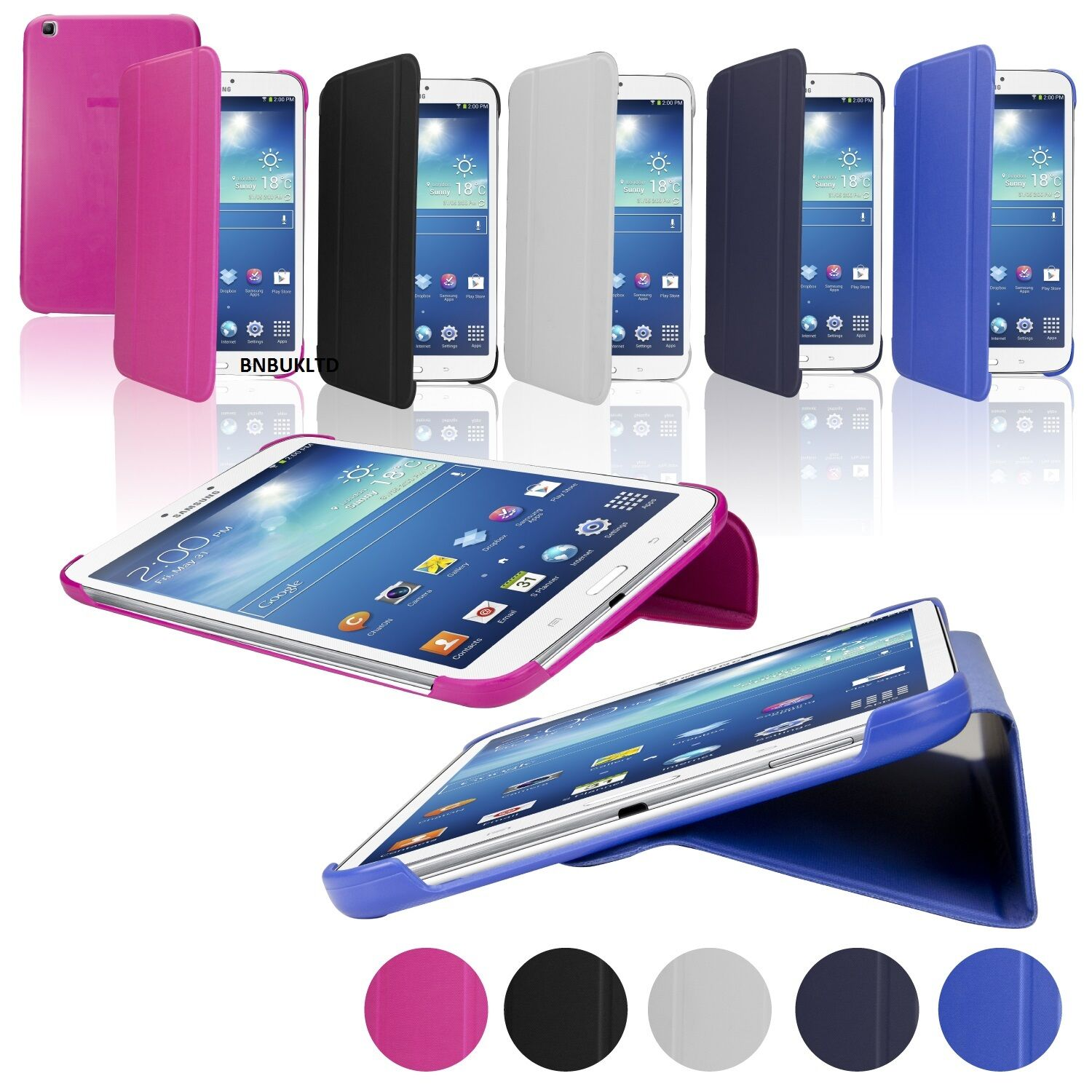 Black  Friday smart book stand Leather Case Cover for various samsung tablets