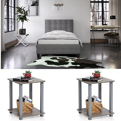 3 Piece Bedroom Set Furniture Full Size Modern Nightstands Grey Headboard Bed