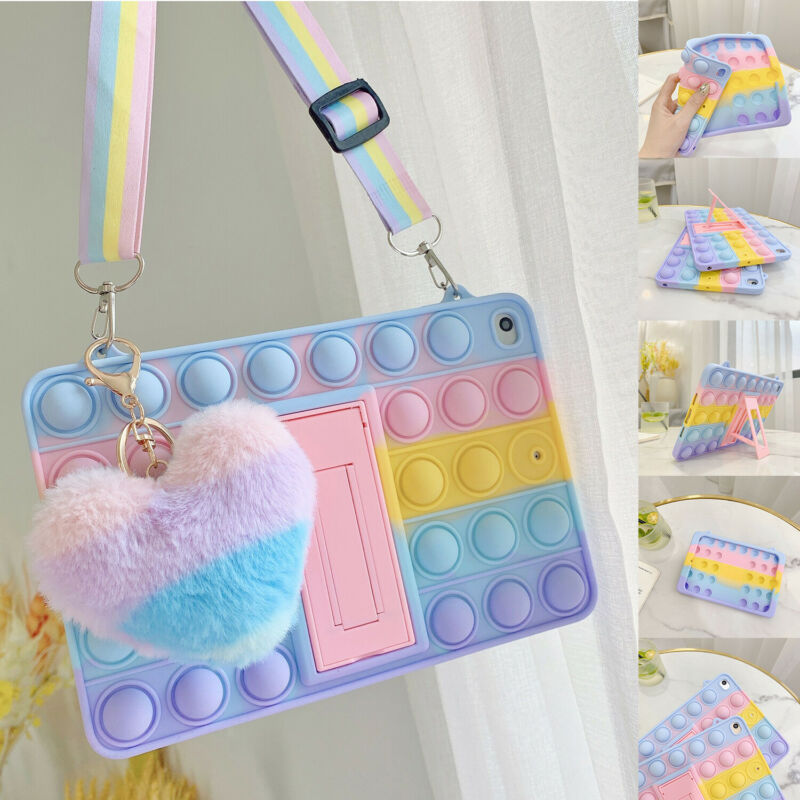 For iPad 8th 7th 6th 5th mini Air 4/2 Pop Fidget Toys Push It Bubble Tablet Case